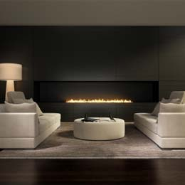 Johnson Gas - Gas plumber Adelaide, beautiful lounge setting with gas fire place.