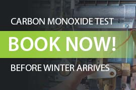 Johnson Gas - Gas plumber Adelaide, Book Now! Carbon Monoxide testing call to action image.